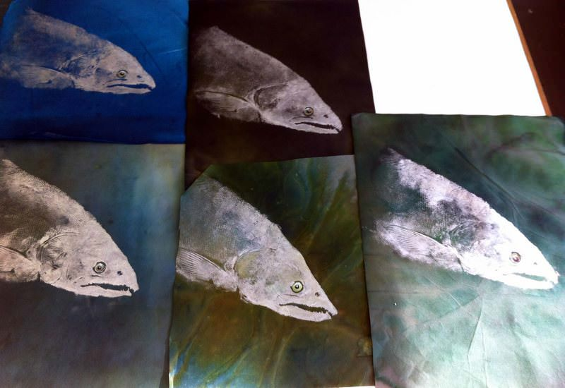 paints with dead fish
