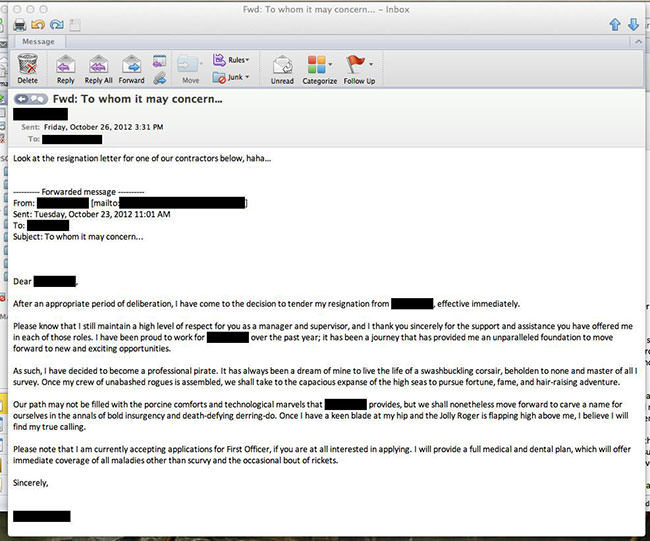 The Most Undeniably Awesome Resignation Letters Ever